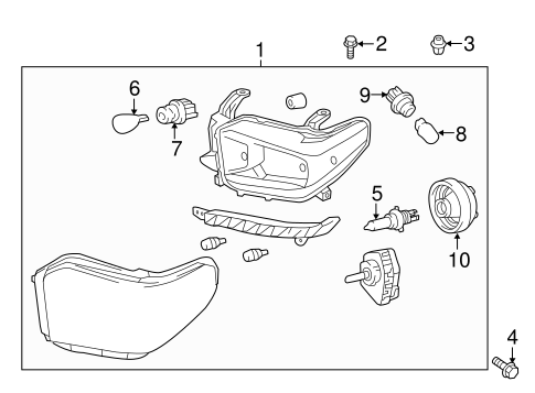 headlamp components for 2015 toyota tundra. Black Bedroom Furniture Sets. Home Design Ideas