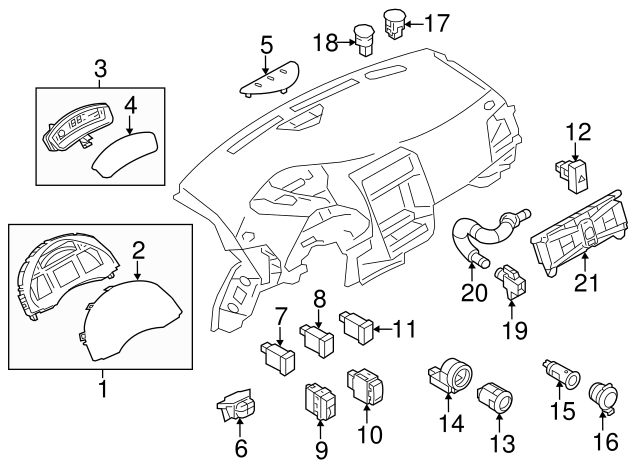 Genuine Nissan 2013 2016 Power Outlet 25331 3sh0a
