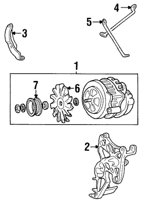 alternator for 1993 gmc c1500 pickup sierra. Black Bedroom Furniture Sets. Home Design Ideas