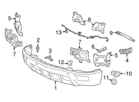 bumper components front parts for 2014 chevrolet. Black Bedroom Furniture Sets. Home Design Ideas