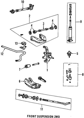 genuine oem suspension components parts for 1994 toyota ... pick up suspension diagram