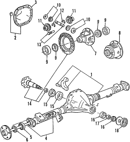 Rear Axle For 1999 Ford E