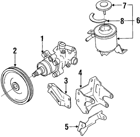 Toyota Tacoma Power Steering Pump Diagram Printable Wiring Diagram