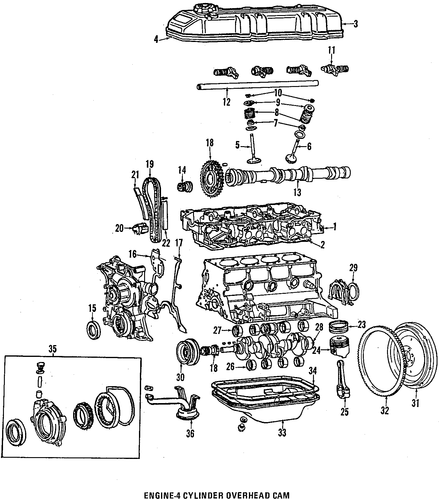 1994 toyota pickup engine diagram genuine oem engine parts parts for 1994 toyota pickup dlx ...