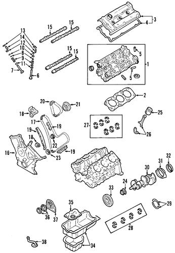 genuine oem engine parts for 2006 toyota rav4 sport ... 2000 toyota rav4 engine diagram