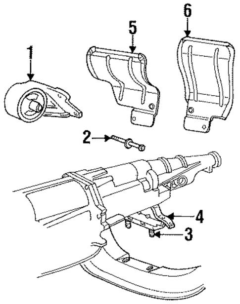 motor mount for 1998 dodge ram 2500 52018237 wermopar. Black Bedroom Furniture Sets. Home Design Ideas