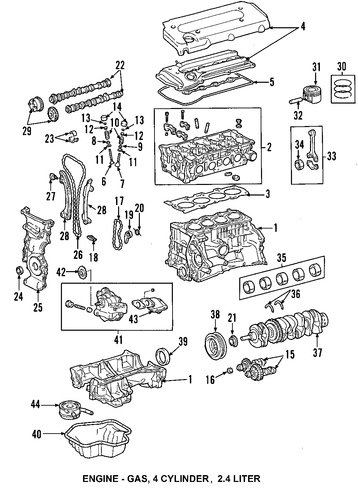 2005 camry engine diagram genuine oem oil pan parts for 2005 toyota camry le ...