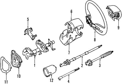 genuine oem steering column parts for 1994 toyota pickup dlx olathe toyota parts center. Black Bedroom Furniture Sets. Home Design Ideas