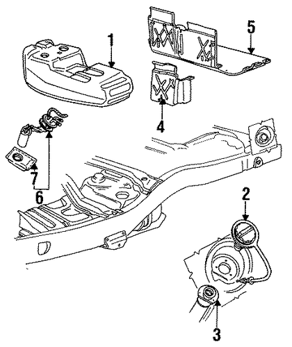 Fuel System Components For 1992 Ford Explorer