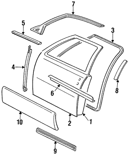 Service Manual 1996 Cadillac Seville Rear Window