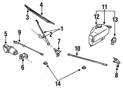 wiper transmission for 1990 nissan d21 28860 01g0a. Black Bedroom Furniture Sets. Home Design Ideas