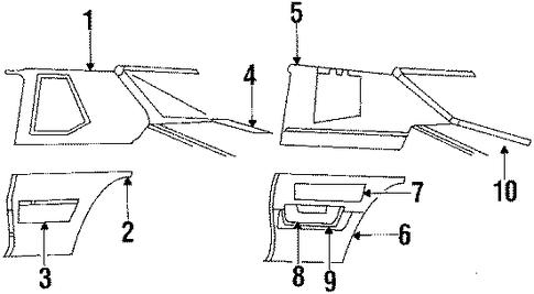 Interior Trim Quarter Panels For 1985 Buick Lesabre