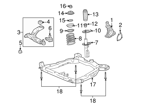 suspension components for 2009 chevrolet cobalt. Black Bedroom Furniture Sets. Home Design Ideas