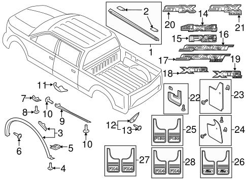 front deflector genuine ford fl3z 99292a23 ba. Black Bedroom Furniture Sets. Home Design Ideas