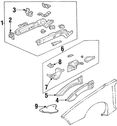 structural components rails for 2000 pontiac firebird. Black Bedroom Furniture Sets. Home Design Ideas