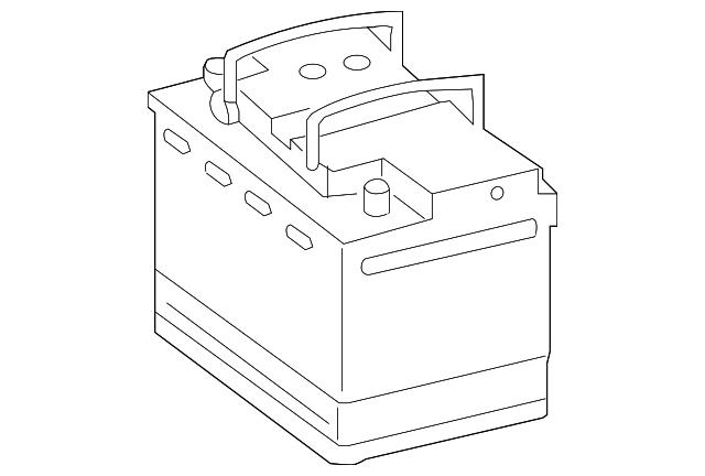 battery genuine volkswagen 000 915 105 dg. Black Bedroom Furniture Sets. Home Design Ideas