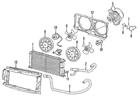 oem vw radiator components for 1995 volkswagen eurovan. Black Bedroom Furniture Sets. Home Design Ideas