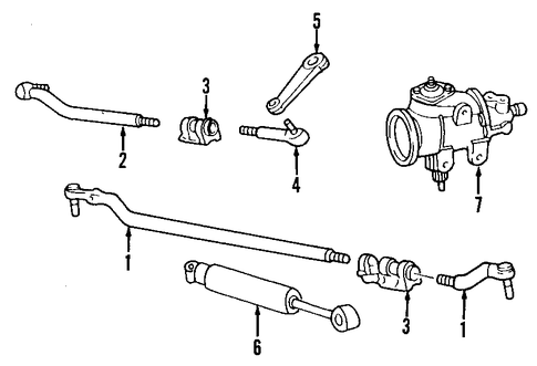 steering gear & linkage for 2000 ford excursion 2004 ford excursion steering wheel control wiring diagram ford excursion steering diagram
