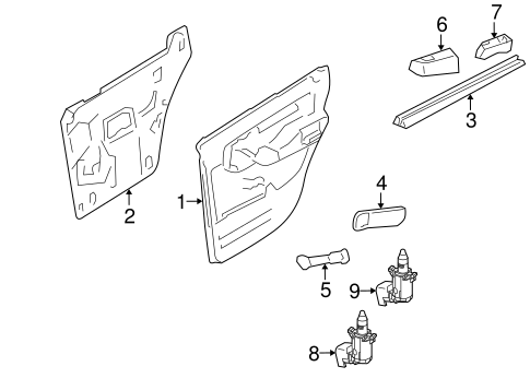 2001 ford explorer door latch diagram 2001 ford explorer