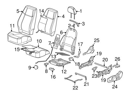 front seat components for 2009 chevrolet cobalt. Black Bedroom Furniture Sets. Home Design Ideas