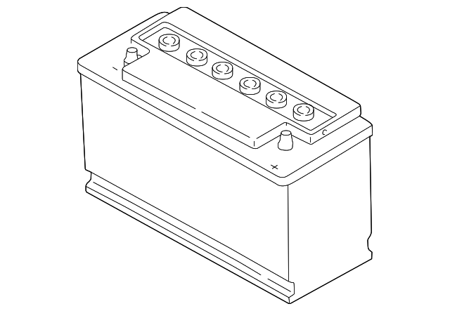 battery genuine volkswagen 000 915 105 de dsp. Black Bedroom Furniture Sets. Home Design Ideas