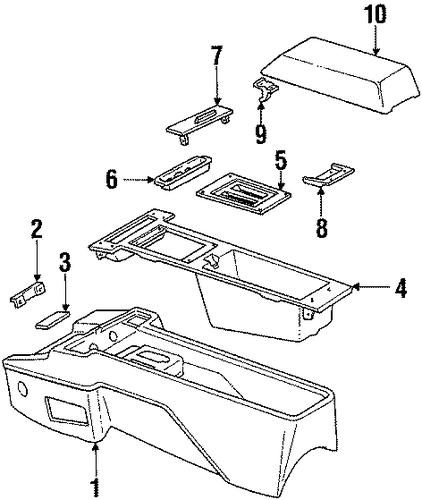Console For 1985 Pontiac Bonneville Le