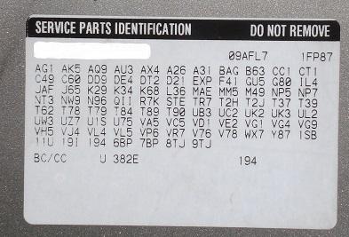 Decoding General Motors RPO Codes | NewGMParts com
