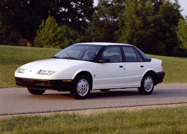 Saturn 4door white sedan