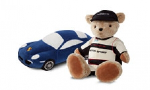 Soft animal and car toys for sweet dreams.