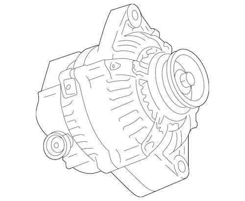 Oem alternator drawing