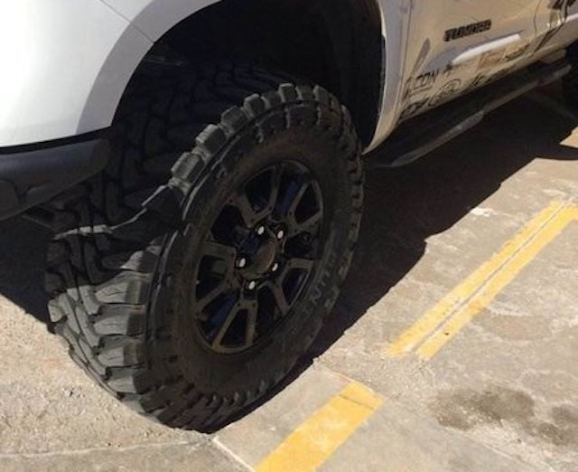 Toyota Tundra Tire Sizes Guide Stock Larger And Lifted Size Options Toyota Parts Center