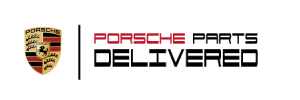 Porsche Parts Delivered Logo
