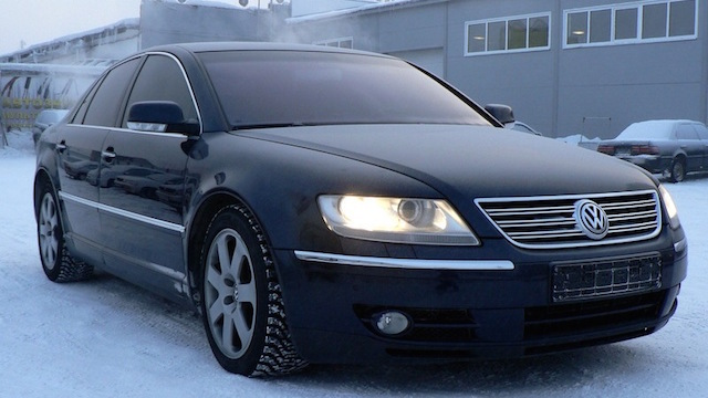 VW Phaeton snow