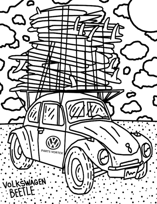 VW Beetle color page
