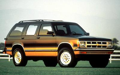 Chevrolet S10 Blazer Years Gmpartonline