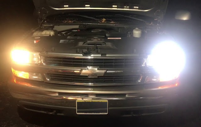 Headlights compared