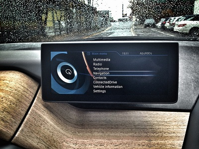 Infotainment systems, like this one in a BMW i3, can use and store your private information. (https://www.carleasingmadesimple.com/)