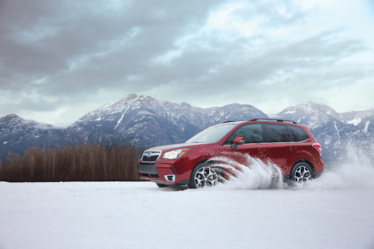 Subaru Forester In The Snow