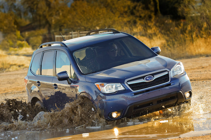 Subaru Forester In A Stream
