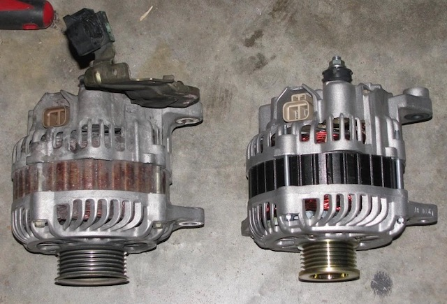 Old new alternator