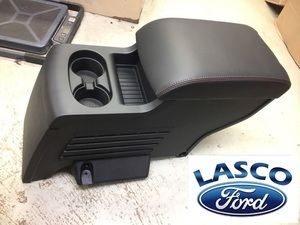 gb5z-78045a36-ab 2015 2016 2017 2018 2019 Ford Explorer second row black center console with red stitching - Ford (GB5Z-78045A36-AB)