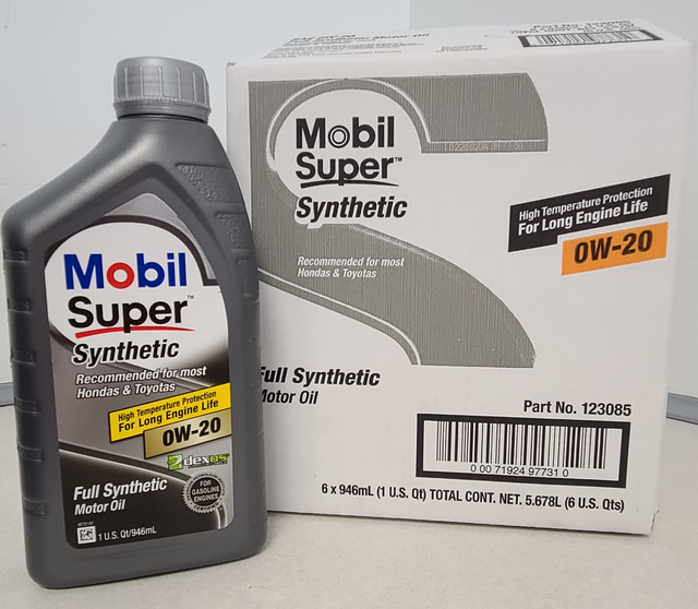 Mobil Super 0W20 Synthetic Motor Oil Case (6 Qts) - Custom (0W20)