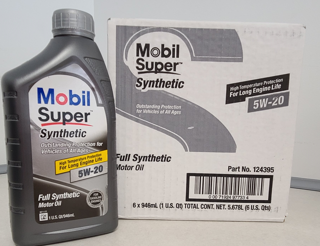Mobil Super 5W20 Synthetic Motor Oil Case (6 Qts) - Custom (5W20)