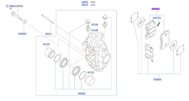 Brake Pads - Infiniti (D4060-JL00J)
