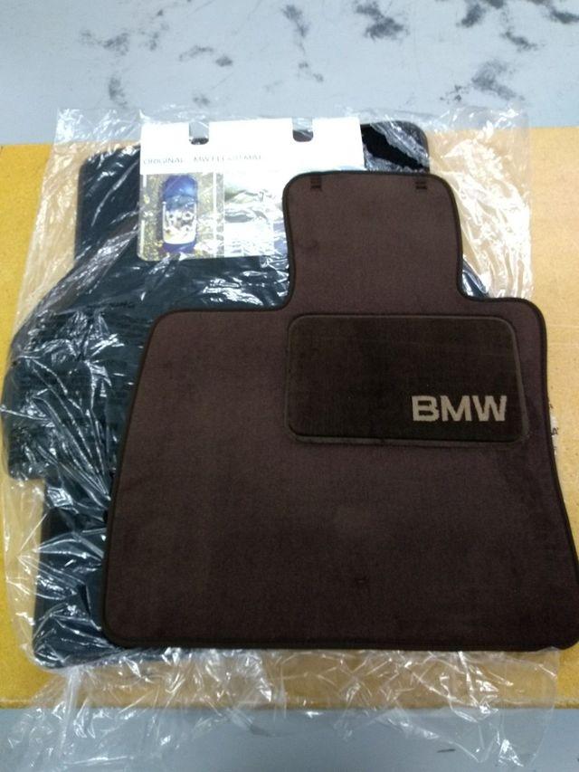 Carpeted Floor Mats With Heelpad - TOBACCO - BMW (82-11-0-439-412)