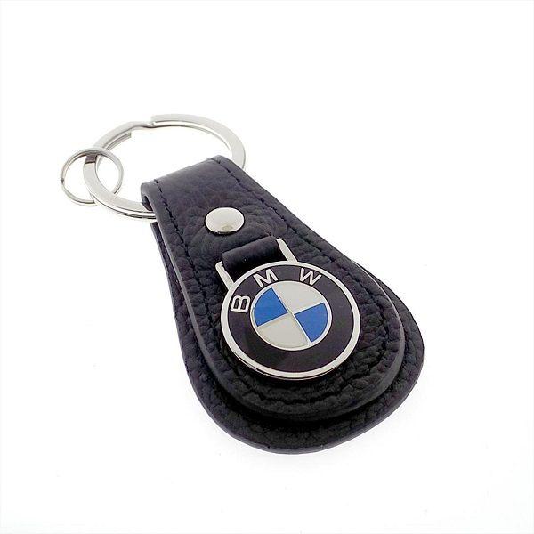 BMW Leather Teardrop Keychain - Black - BMW (80-23-0-408-539)