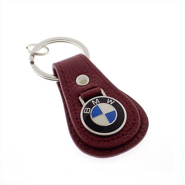 BMW Leather Teardrop Keychain - Brick Red - BMW (80-23-0-408-540)