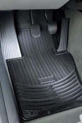 ALL WEATHER RUBBER FLOOR MATS - FRONT - BLACK