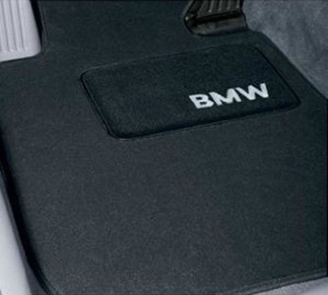 Carpeted Floor Mats With Bmw Lettering Heel - BLACK - BMW (82-11-0-021-270)