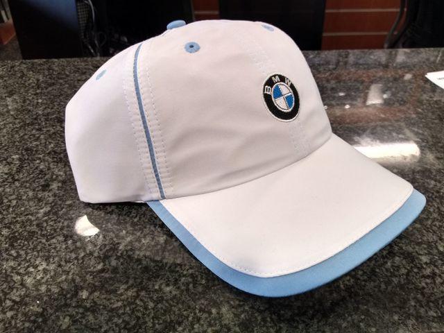 Ladies Microfiber Cap White/Blue - BMW (80-16-0-439-608)